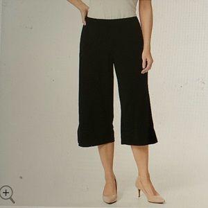Susan Graver Wide Leg Crop Pants